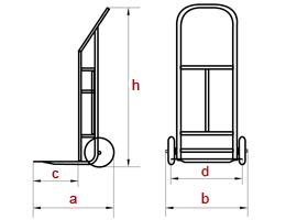 Двухколесные грузовые тележки ТГ-150, чертеж
